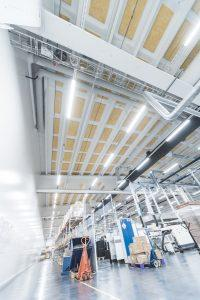 Helvar Factory Production Plant LED lighting