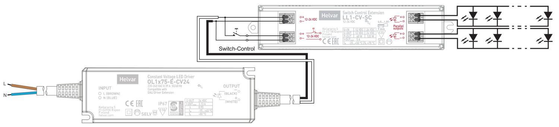 Helvar LED Treiber LL1x75-E-CV24 Constant Voltage LED Driver 220-240VAC 50//60Hz