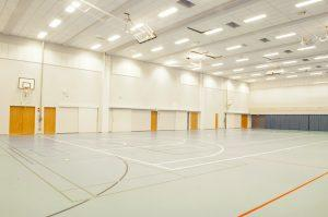 Helvar Vuores School Centre Sports hall LED lighting
