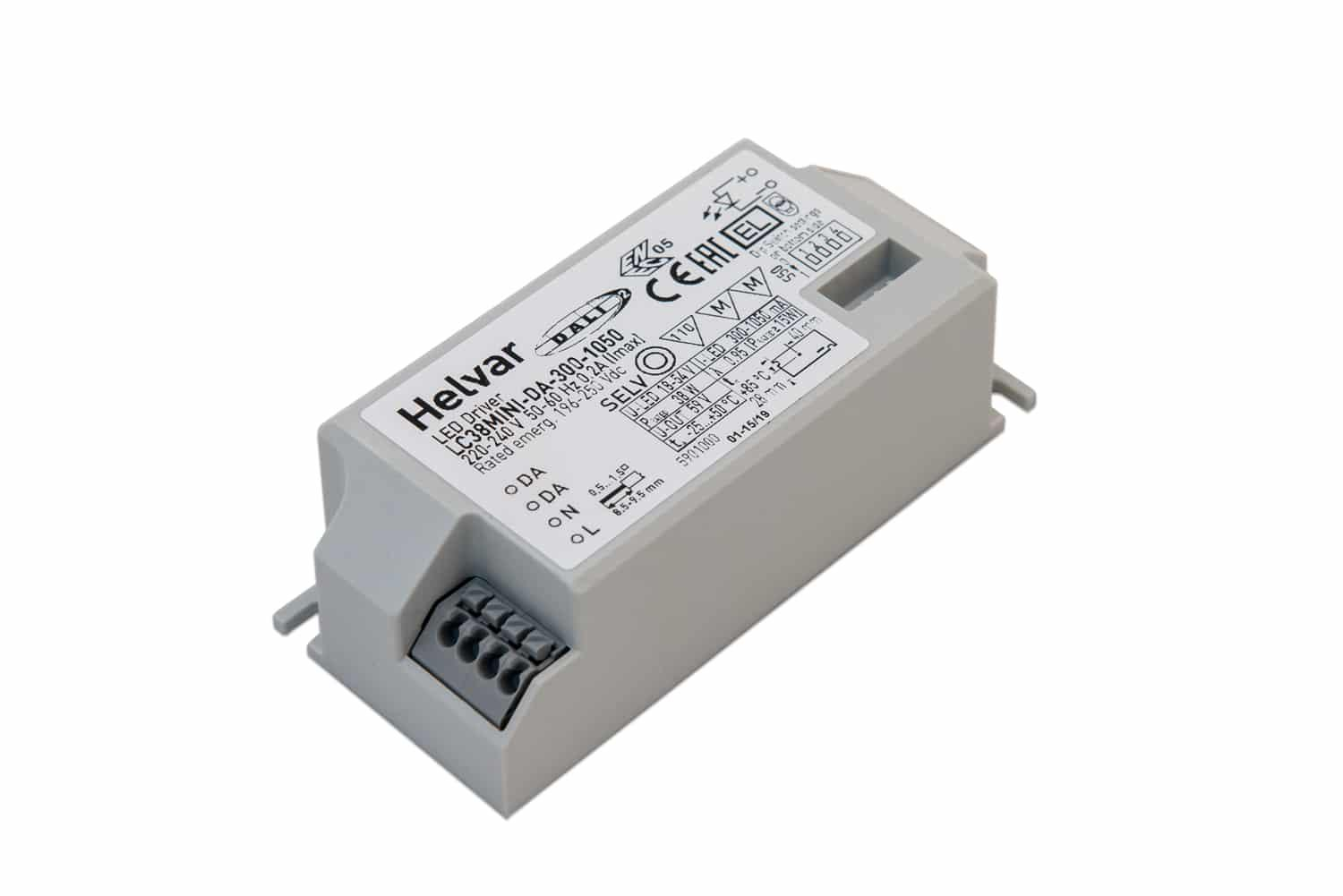 Small sized LED driver for light fittings